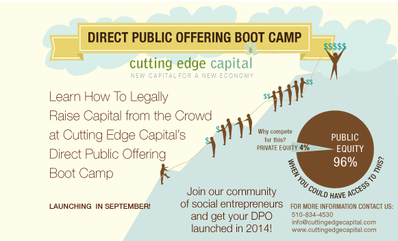 Massachusetts Enterprises: Learn How To Legally Raise Capital from the Crowd in CEC's DPO Boot Camp!